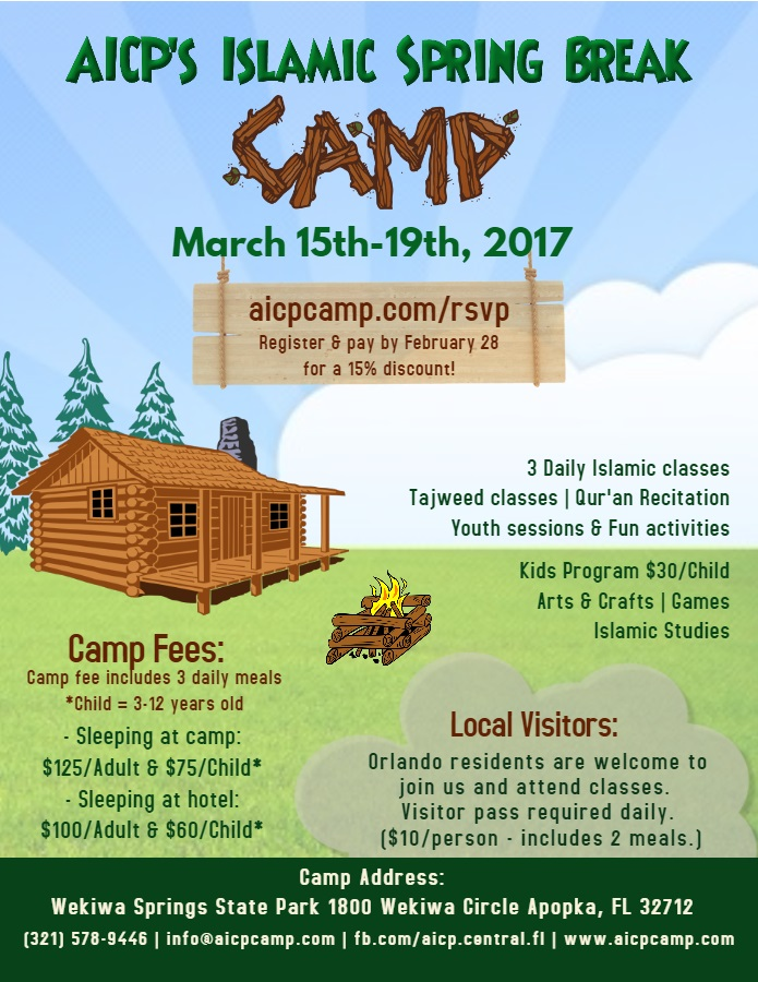 AICP Islamic Camp - Spring Break 2017